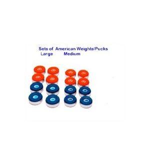 American Premier shuffleboard weights