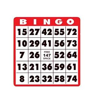 Bingo Cards, set of 100