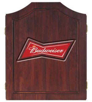 Budweiser logo dart board cabinet