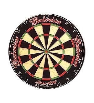 Budweiser logo dart board