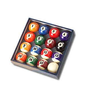Asian Poly-Resin Billiard Balls set, Larger Numbers