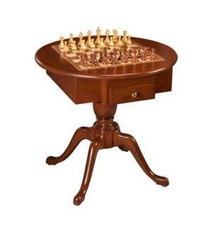 The Amalfi Chess, Checker and Backgammon Table. Made in the USA.