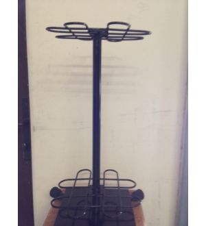 Metal cue rack, holds 16 cue sticks