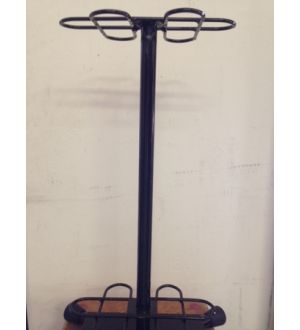 Metal cue rack, holds 8 cue sticks