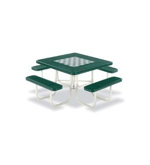 Signature Outdoor Chess/Checker/Picnic Table, Portable, Square