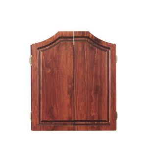 Deluxe pine electronic dart board cabinet