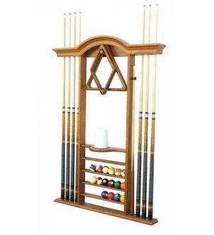 NEW Pinnacle Premium 6 Cue Wall Rack