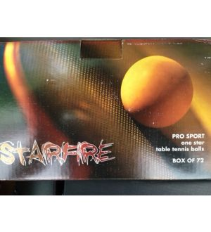 STARFIRE, 3 star 40mm tournament table tennis balls