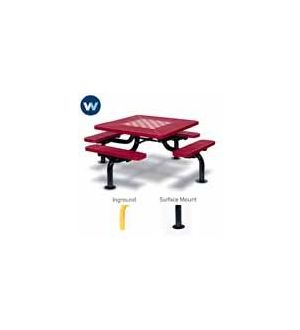 Spider Outdoor Chess/Checker/Picnic Table, Square
